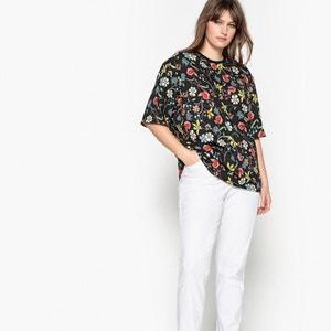 T-shirt scollo rotondo fantasia floreale, maniche a 3/4 CASTALUNA