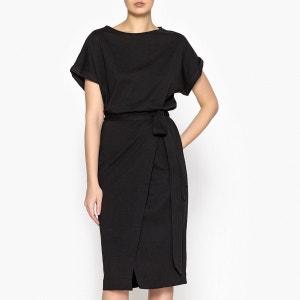Robe à manches courtes avec lien à la taille CLARE BA&SH
