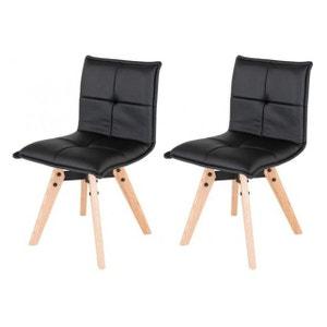Chaises design avec pieds en chêne (Lot de 2) ZAGO
