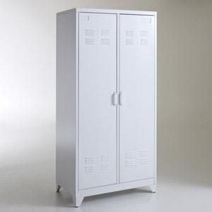 Armario ropero, metal, 2 puertas, Hiba La Redoute Interieurs