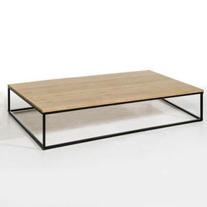 Mesa baja rectangular de roble macizo Aranza