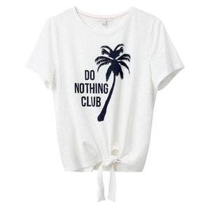Camiseta 100% algodón motivo palmera, anudada en la cintura TOM TAILOR