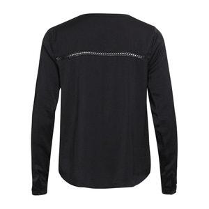 Blusa lisa con cuello redondo, de manga larga VILA