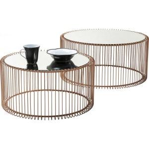 Tables basses rondes Wire cuivre set de 2 Kare Design KARE DESIGN