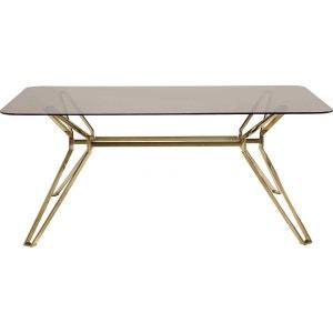 Table en verre Garbo Gold rectangulaire 180x90 Kare Design KARE DESIGN