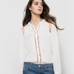 Long-Sleeved Collarless Shirt LE TEMPS DES CERISES