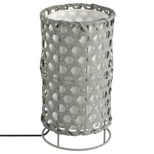 Lampe Bambou - H. 31 cm. - Gris ATMOSPHERA