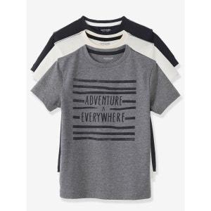 Lot de 3 T-shirts garçon VERTBAUDET