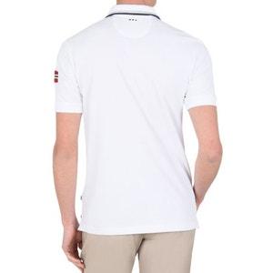 Gładka koszula z kołnierzykiem polo, krótki rękaw NAPAPIJRI