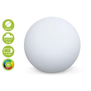Boule lumineuse LED Ø 30cm 16 couleurs étanche  recharge sans fil avec télécommande ALICE S GARDEN