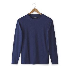 T-shirt col rond et manches longues, pur coton CASTALUNA FOR MEN