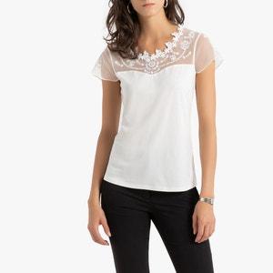 Effen T-shirt met ronde hals en korte mouwen