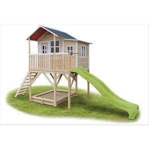 Maisonnette + bac à sable Loft 750 Naturel EXIT TOYS
