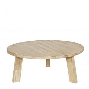 Table basse ronde en bois FSC 80cm Theofilus DRAWER