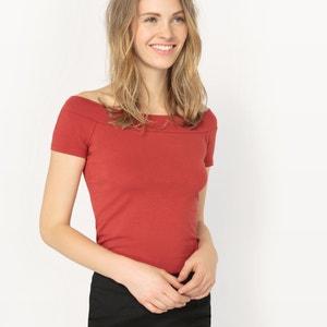 Camiseta lisa con hombros descubiertos atelier R