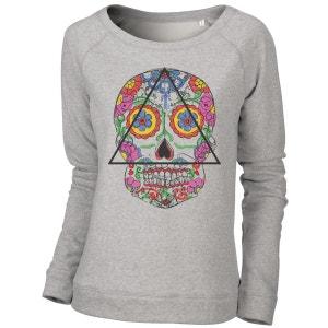 Sweatshirt Imprimé Bio Tendance Femme Santa Muerte ARTECITA