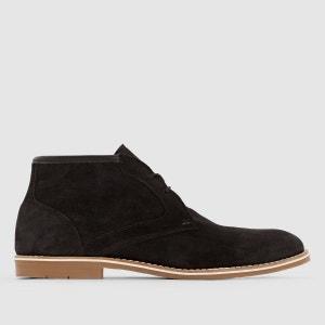 Boots en cuir à lacets La Redoute Collections