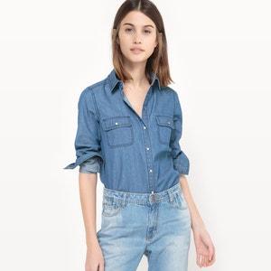 Рубашка из денима, 100% хлопка La Redoute Collections