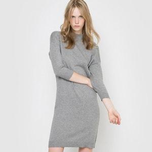 Cotton and Cashmere High Neck Jumper/Sweater Dress R essentiel