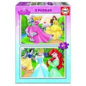 Puzzles 2 x 20 pièces : Disney Princesses EDUCA