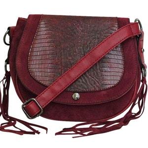Sac bandouliere rouge avec franges CHAPEAU-TENDANCE