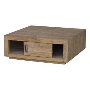Table basse teck lin carrée Cosmopolitan ZAGO
