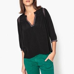 Blusa con cuello tunecino y bordados TIME BA&SH