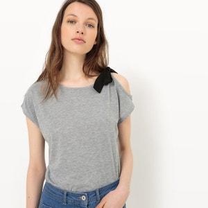 T-shirt de mangas curtas, laço no ombro ONLY