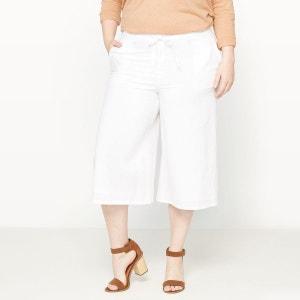 Pantalon racourci en lin et coton CASTALUNA