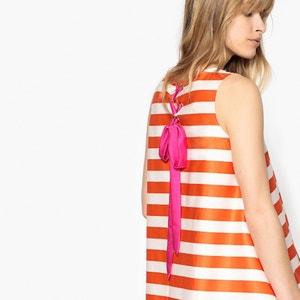 Sukienka trapezowa w paski, z wiązaniem na plecach MADEMOISELLE R