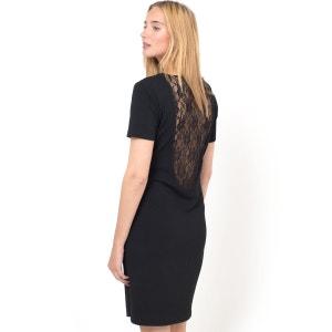 Short-Sleeved Dress with Lace Back VILA