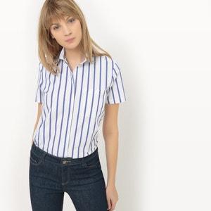 Camisa de mangas curtas, às riscas R essentiel