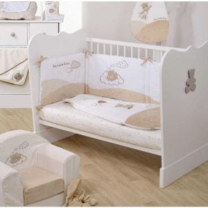 Lit bébé acapulco blanc/taupe 60x120 Domiva DOMIVA