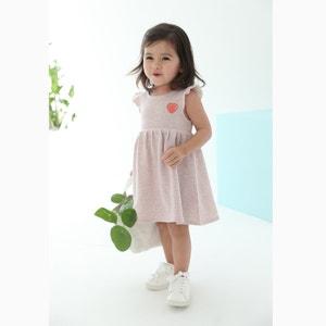 Vestido em moletão, riscas brilhantes, 1 mês - 3 anos R mini