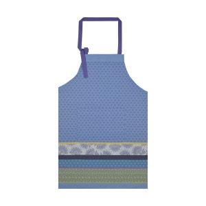 Tablier Cuisine de Provence Bleu lavande 90x96 100% coton LE JACQUARD FRANCAIS