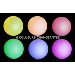Boule a Led 6 couleurs D 8 cm Pile incluse Top ambiance en soiree ARTIFICIELLES