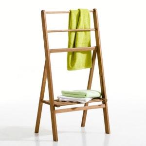 Opklapbare handdoekhouder in acacia hout La Redoute Interieurs