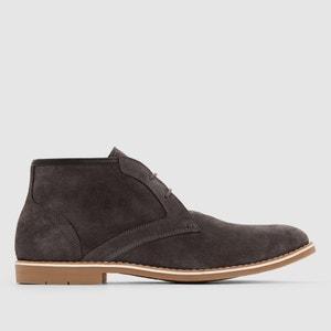 Ботинки кожаные на шнуровке. La Redoute Collections