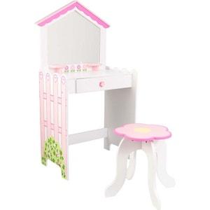 Coiffeuse enfant rose et blanche Dollhouse Cottage KIDKRAFT