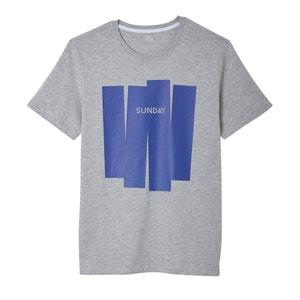 Camiseta de cuello redondo con motivo delante La Redoute Collections