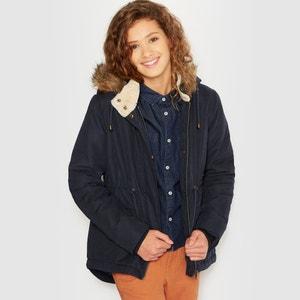 Parka con cappuccio bordato da pelliccia sintetica 10-16 anni La Redoute Collections