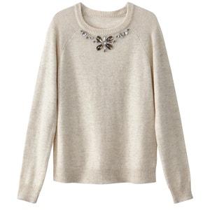 Пуловер с декоративным украшением La Redoute Collections