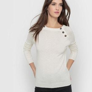 Jersey abotonado en las sisas, 50% lana R essentiel