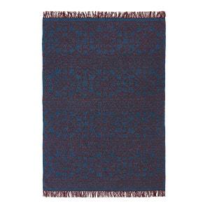 Tapis tissé à plat motif kilim en laine, Huzuro AM.PM