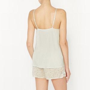 Pijama con short y camiseta con tirantes finos La Redoute Collections