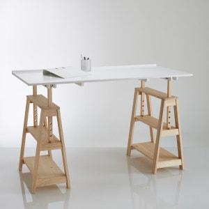Jimi Solid Pine Trestle Desk La Redoute Interieurs