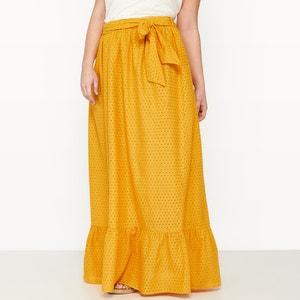 Falda larga tipo enagua con bordado inglés CASTALUNA