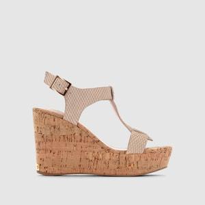 Sandálias em pele abertas, com cunha DUNE LONDON, Kier DUNE LONDON