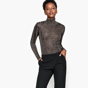 Sweter z wiskozy z golfem i metalicznymi włóknami La Redoute Collections