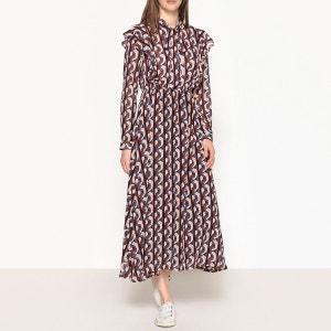 Robe longue imprimée à lavallière SISTER JANE